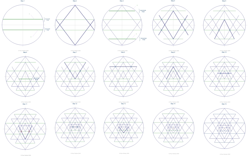 How to draw the Sri Yantra